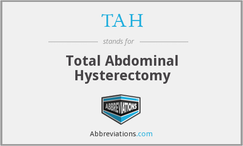 TAH - Total Abdominal Hysterectomy