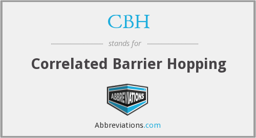 CBH - Correlated Barrier Hopping