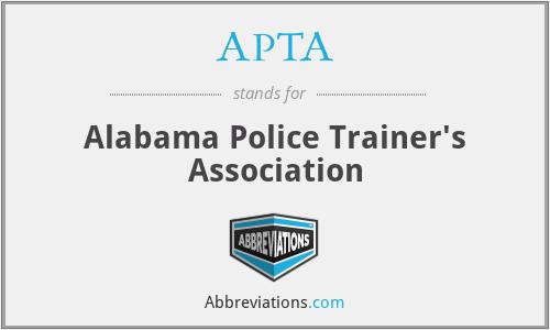 APTA - Alabama Police Trainer's Association