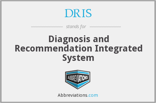 DRIS - Diagnosis and Recommendation Integrated System