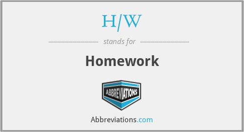 H/W - Homework