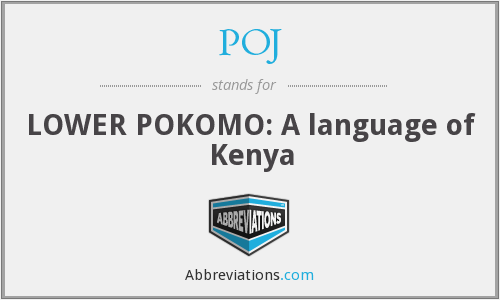 POJ - LOWER POKOMO: A language of Kenya