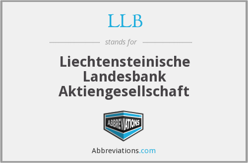 LLB - Liechtensteinische Landesbank Aktiengesellschaft