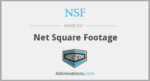 NSF - Net Square Footage
