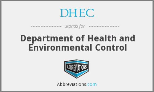 DHEC - Department of Health and Environmental Control