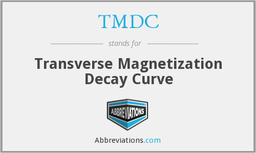 TMDC - Transverse Magnetization Decay Curve