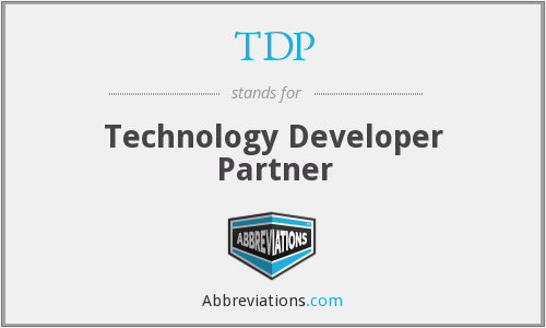 TDP - Technology Developer Partner