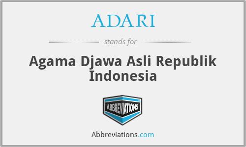 ADARI - Agama Djawa Asli Republik Indonesia
