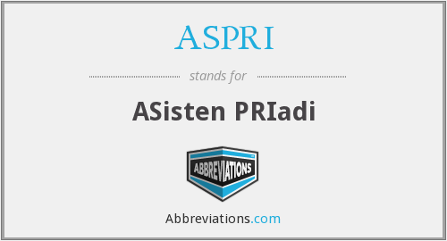 What does ASPRI stand for?