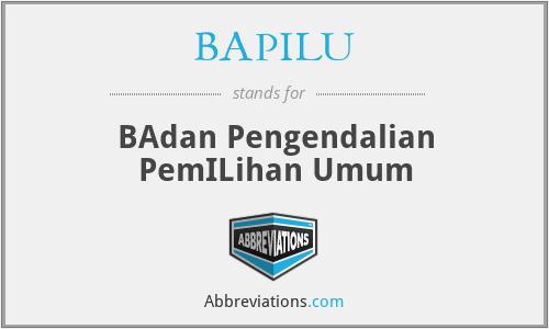 BAPILU - BAdan Pengendalian PemILihan Umum