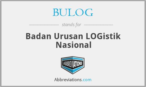 BULOG - Badan Urusan LOGistik Nasional