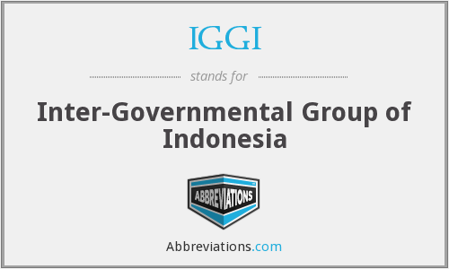 IGGI - Inter-Governmental Group of Indonesia