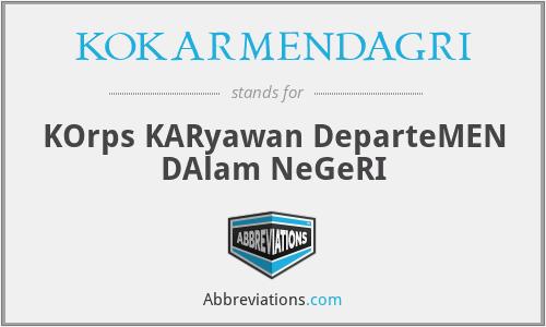 KOKARMENDAGRI - KOrps KARyawan DeparteMEN DAlam NeGeRI