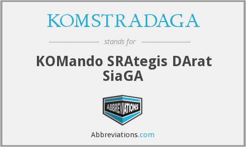 What does KOMSTRADAGA stand for?