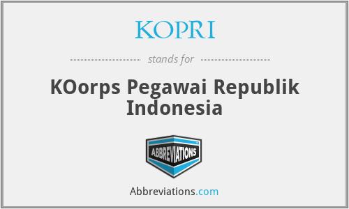 KOPRI - KOorps Pegawai Republik Indonesia