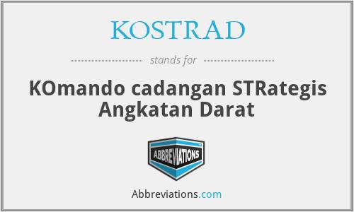 KOSTRAD - KOmando cadangan STRategis Angkatan Darat
