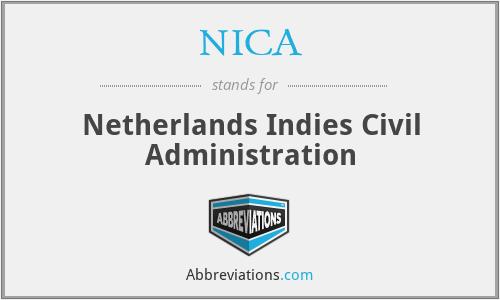 NICA - Netherlands Indies Civil Administration