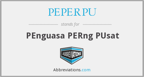 What does PEPERPU stand for?