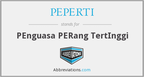 What does PEPERTI stand for?