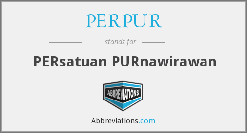 What does PERPUR stand for?