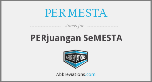 What does PERMESTA stand for?