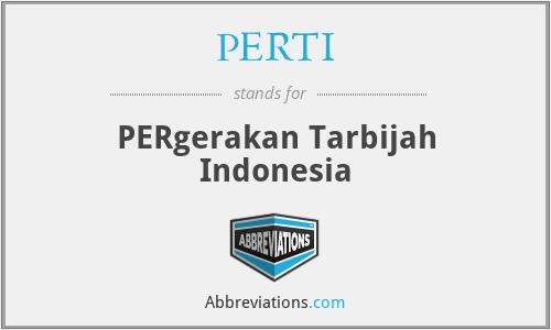 PERTI - PERgerakan Tarbijah Indonesia