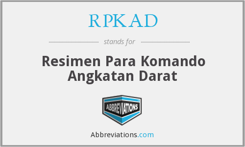 What does RPKAD stand for?