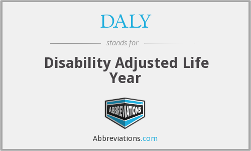 DALY - Disability Adjusted Life Year