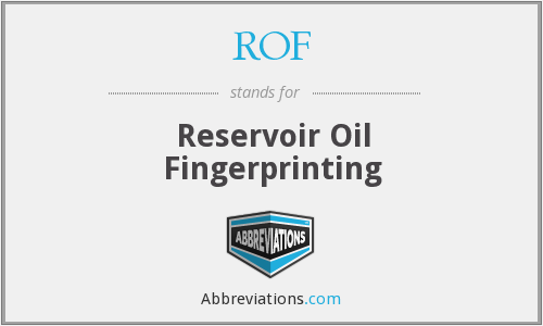ROF - Reservoir Oil Fingerprinting
