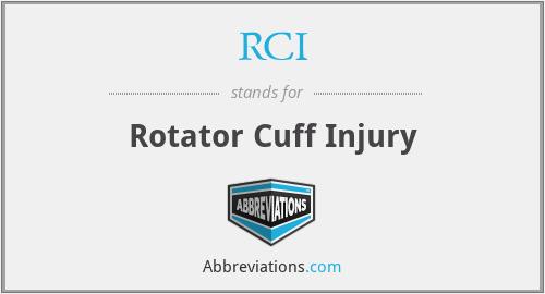 RCI - Rotator Cuff Injury