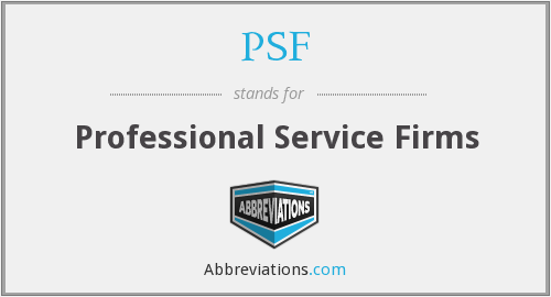 PSF - Professional Service Firms