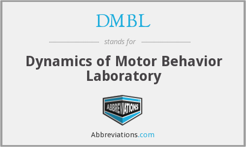 DMBL - Dynamics of Motor Behavior Laboratory