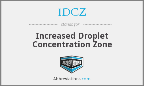 IDCZ - Increased Droplet Concentration Zone