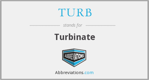 What does turbinate stand for?