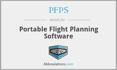 PFPS - Portable Flight Planning Software