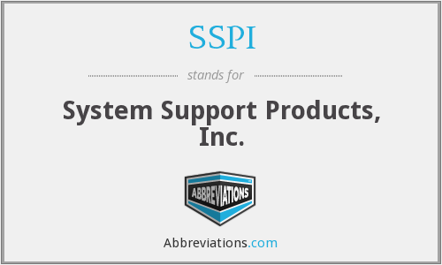 SSPI - System Support Products, Inc.