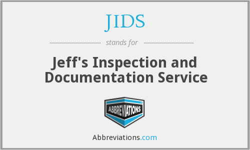JIDS - Jeff's Inspection and Documentation Service