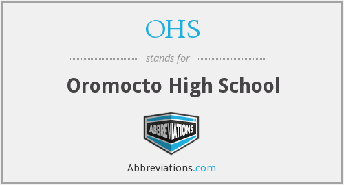 OHS - Oromocto High School