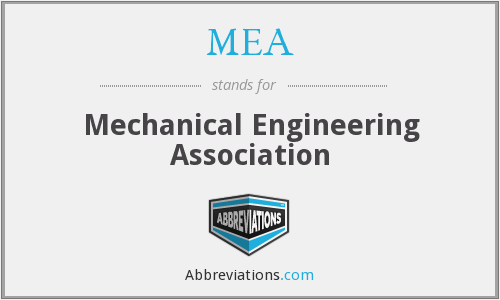 MEA - Mechanical Engineering Association