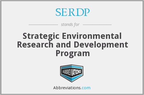 What does SERDP stand for?