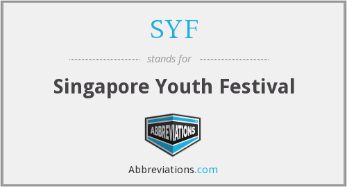SYF - Singapore Youth Festival