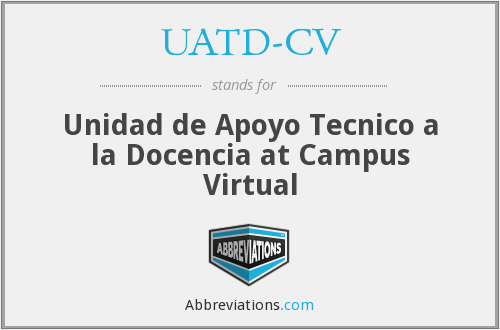 What does UATD-CV stand for?