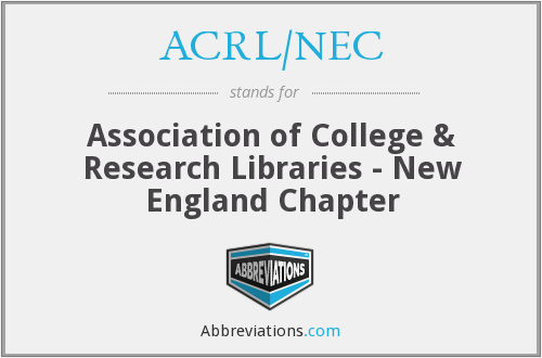 What does ACRL/NEC stand for?
