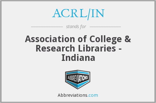 What does ACRL/IN stand for?