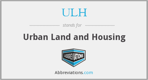 ULH - Urban Land and Housing