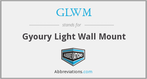 GLWM - Gyoury Light Wall Mount