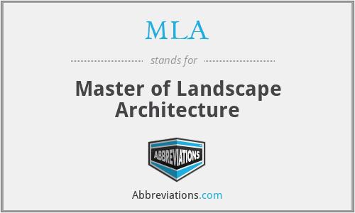 MLA - Master of Landscape Architecture