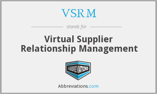 VSRM - Virtual Supplier Relationship Management