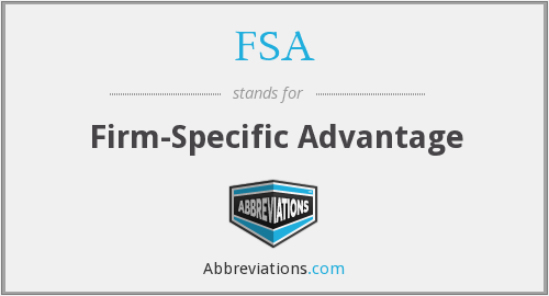 FSA - Firm-Specific Advantage