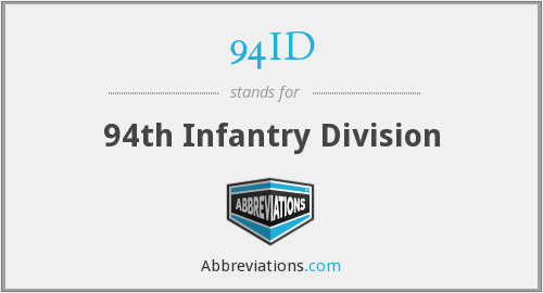 94ID - 94th Infantry Division